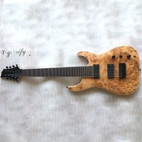 good quality mahogany solid wood 8 string electric guitar
