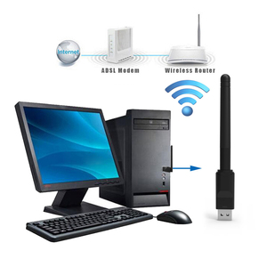 Image 2 - Adapter 2.4GHz WLAN Network Card 150Mbps Wireless USB WiFi Receiver 2DB Wifi Antenna For DVB T2