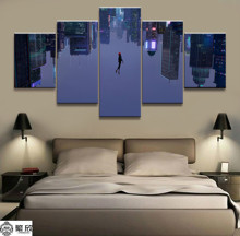 Home Decor Modular Canvas Picture 5 Piece Spider Man Film Painting Poster Wall For Wholesale