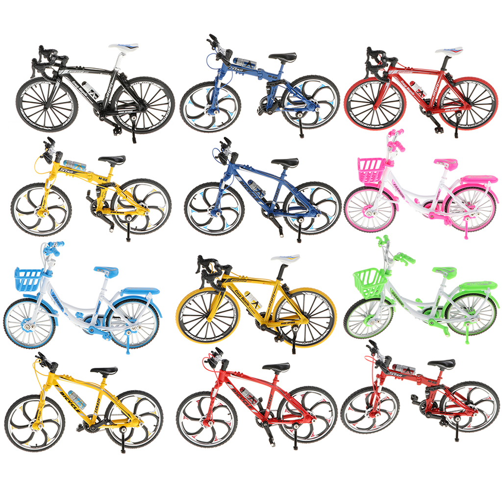 2pcs 1:10 Scale Vintage Tricyle High Wheel Bike Diecast Vehicle Model Toys