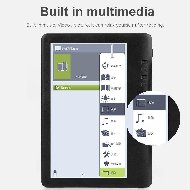 CLIATE 7 pouces BK7019 lecteur d'ebook intelligent avec HD résolution numérique E-livre + Vidéo + MP3 musique lecteur Couleur écran - 5