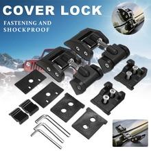 цена на Engine cover for Jeep Wrangler JK JKU 2007-2017 Car Lock Hood Latch Catch Cover for Jeep JL Wrangler Accessories