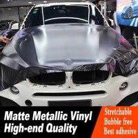 Высокое качество темно-серый матовый металлический виниловый автомобильный стикер высокого класса сырье горячий цвет матовая металлическ...