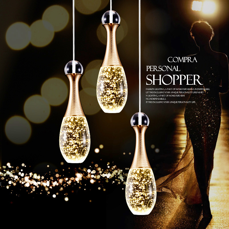 GentelWay Modern Pendant Light LED Bulb Creative Art Glass Perfume Bottle Crystal Hanging Ceiling Bubbles Lamp For Bar LightingGentelWay Modern Pendant Light LED Bulb Creative Art Glass Perfume Bottle Crystal Hanging Ceiling Bubbles Lamp For Bar Lighting