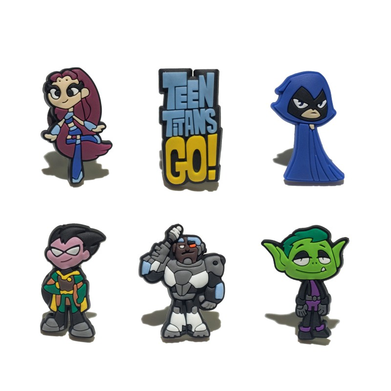 8pcs/lot Teen Titan Cartoon Fridge Magnets Pvc Blackboard Magnets Children Magnetic Stickers Kids Toys Birthday Gift
