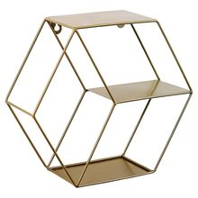3-color Nordic Style Metal Decorative Shelf Hexagon Shelves Home Decoration Storage Rack Potted Rack Children Room Decoration(China)