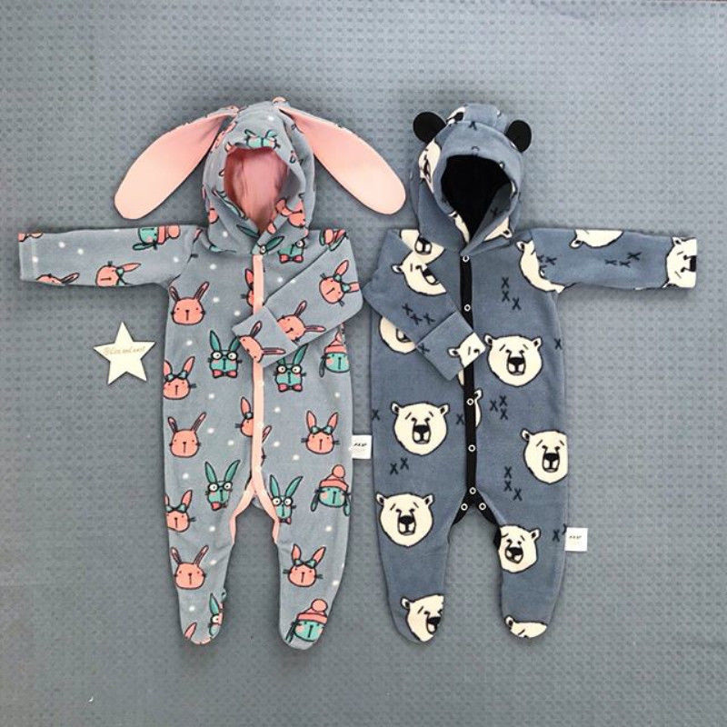 Bodysuits & One-pieces Have An Inquiring Mind 0-18m Winter Newborn Baby Boy Girl Warm Clothing Infant Hooded Long Sleeve Romper With Ear Animal Cartoon Cute Lovely Jumpsuit With The Most Up-To-Date Equipment And Techniques