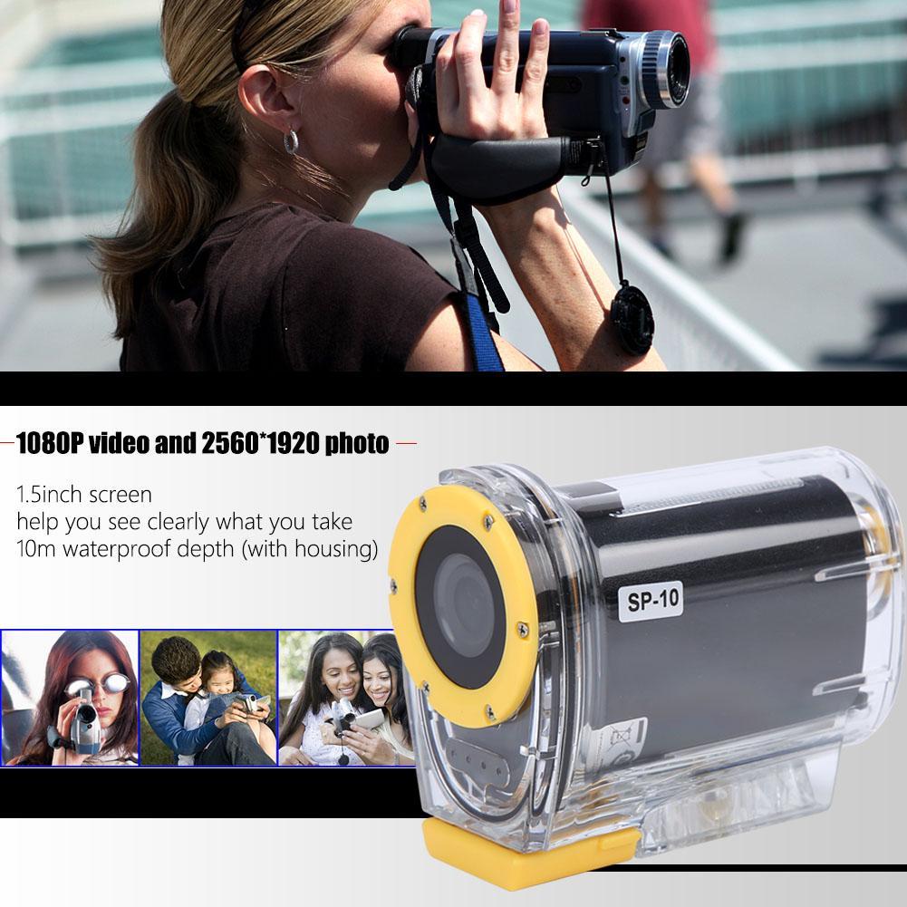 SP-10 extérieur 10 m étanche Portable 1080 P HD WiFi Action sport vidéo caméra Kit 1.5 pouces écran pour le ski natation équitation