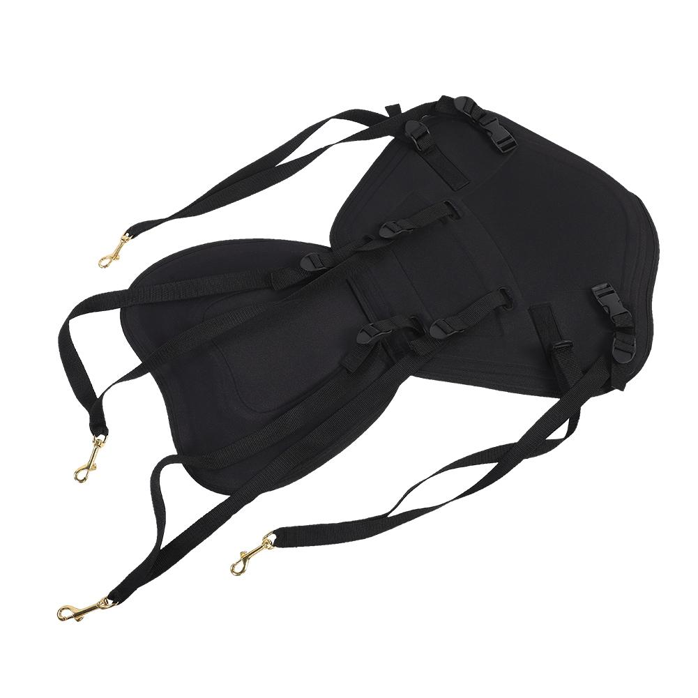 Deluxe Adjustable Padded Kayak Seat Detachable Back Backpack Bag Canoe Backrest