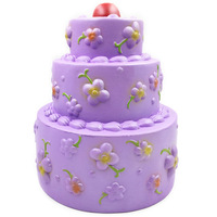 Bakeey 25cm Jumbo Squishies Toy Three layer Flower Cake Adorable Rose Slow Rebound Gift Decor PU Children Toys Reliever Relief