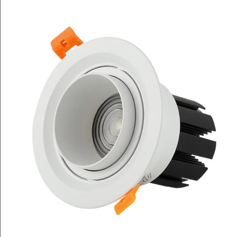 8pcs Embedded Zoom Adjustable LED Spotlight 15 60 Degrees Ceiling Lamp 7W 10W 15W 20W 25W