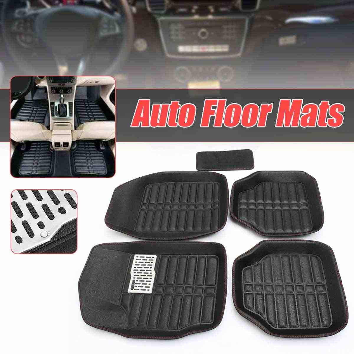 Floor Mats Automobiles & Motorcycles Waterproof Carpet Floor Mats Plane-universal Pvc Rubber Automobile Carpet Cover Car Interior Accessories Protector 4pcs Buy One Give One