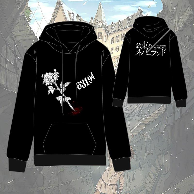 Hot Anime The Promised Neverland  Cosplay Hoodies Standard Hooded   Winter  Tops Unisex  Funny Hoodie Sweatshirts