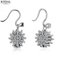 KITEAL 2017 new 100% 925 Sterling Silver White Lady earrings aretes prices in euros