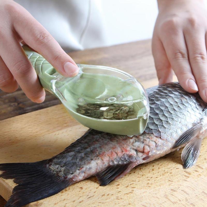 Practical Fish Scale Remover Scaler Scraper Cleaner Kitchen Tool Peeler 20x5.5cm
