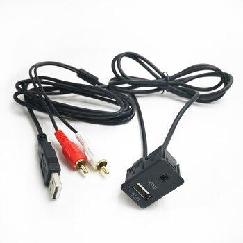 Biurlink-cambiador de CD de Radio para coche, 100CM, RCA, puerto USB, extensión...