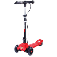 Ferrari Foldable And Portble Scooter Flashing Wheel Internal Coil Sports Twist Scooter With Hand Brake Skateboard Toy Sports