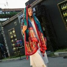 Amazing Vintage Autumn Winter Scarves Women Ladies Scarf Wrap Shawl New beauty print soft luxury scarf for womens