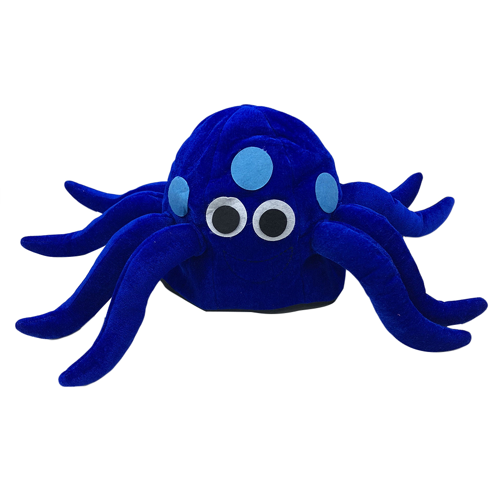 Provided 1 Pc Blue Octopus Hat Novelty Funny Cloth Headwear Headdress Costume Accessory Photo Prop Party Cap For Festival Carnival 100% Original Apparel Accessories Men's Hats