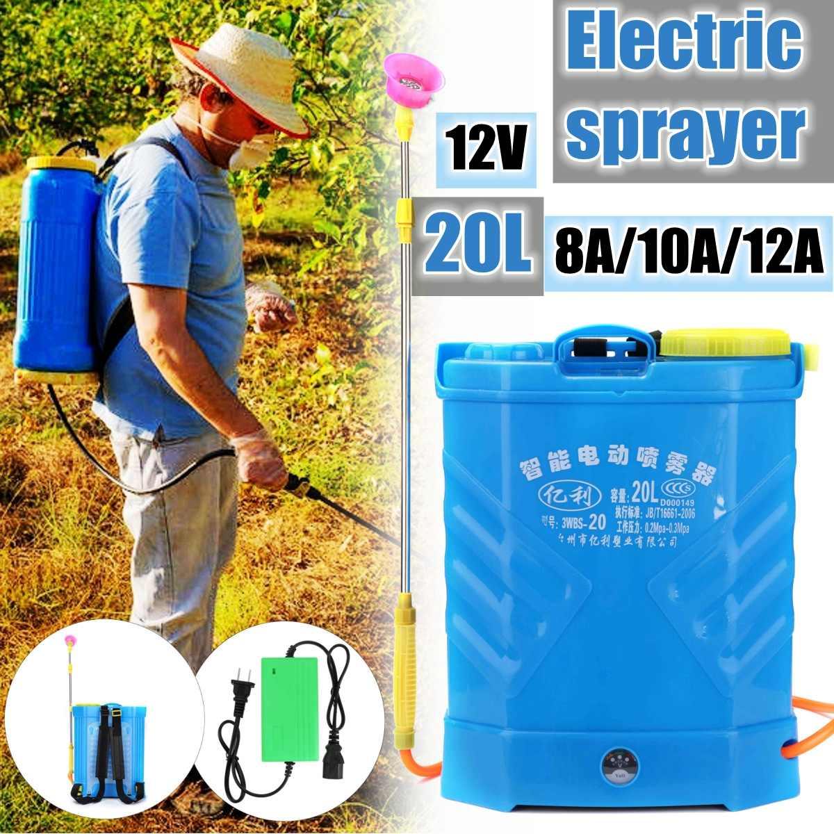 20L 8/10/12/14/16A Pesticida Agrícola pulverizador de Alta pressão Elétrica Da Bateria de Lítio carga dispensador equipamento de jardim