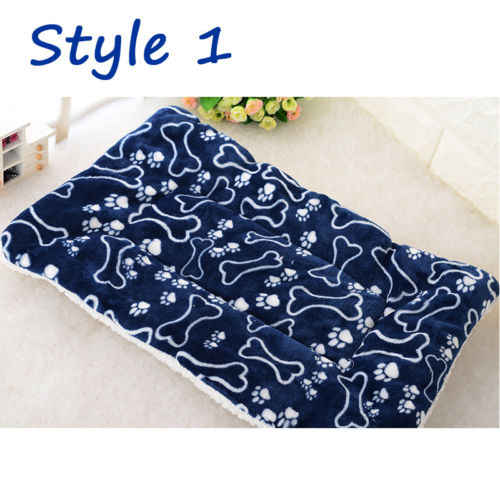 6b22e5beeee9 ... Soft Flannel Dog Bed Mat Pet Washable House Blanket Large Dog Bed  Cushion Mattress Kennel Soft ...