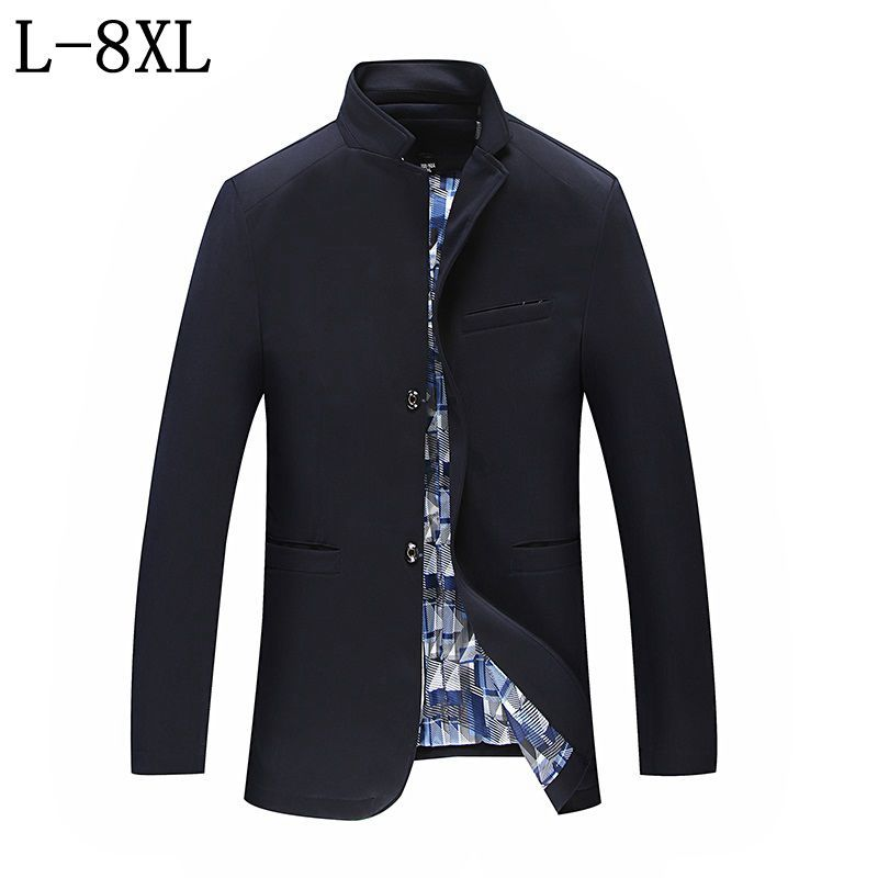 2018 New Men's Casual Blazers Hot Sale Leisure Suit Fashion Loose Blazer Masculino Single Breasted Costume Homme Size 7XL 8XL