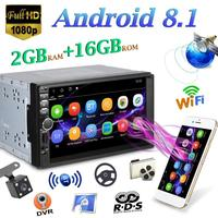 VODOOL Car Multimedia Player Android 8.1 Quad Core Car Stereo MP5 Player Car Styling GPS Navi RDS AM FM Radio WiFi BT+ Camera