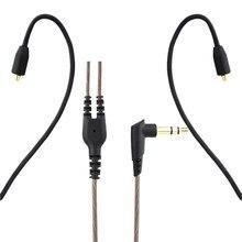 Mmcx cabo para shure se215/se315/se425/se535 ue900 fones de ouvido atualizar substituição cabos 3.5mm fio fone de ouvido cabo de áudio