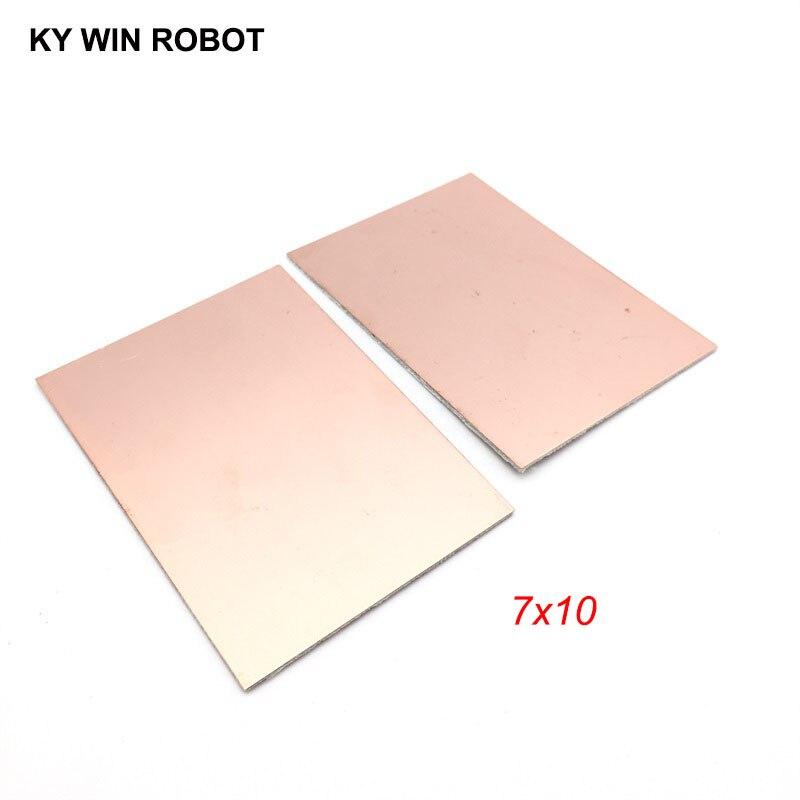 2 шт. FR4 PCB 7x10 см 7*10 двухсторонняя медная плакированная пластина, сделай сам, набор печатных плат, ламинат, печатная плата