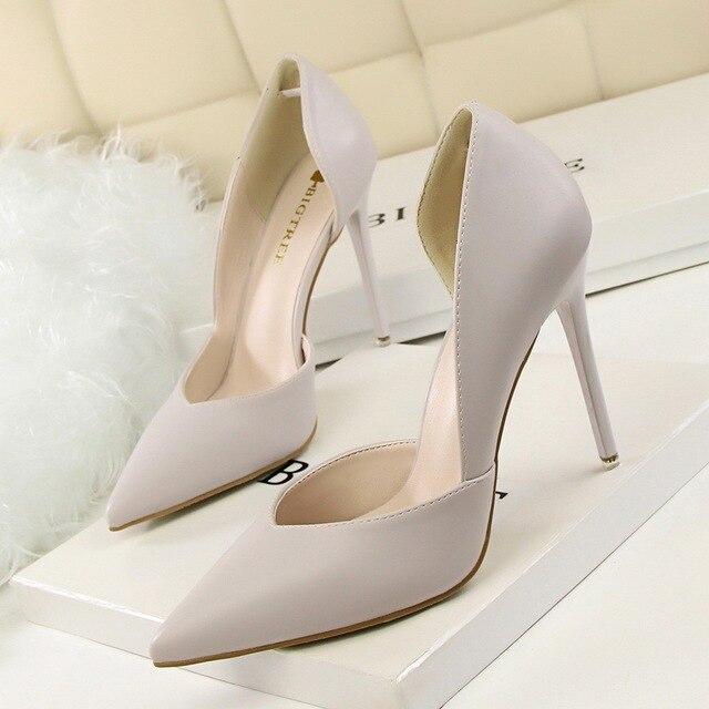 Women Pumps Fashion High Heels Shoes Black Pink Yellow Shoes Women Bridal Wedding Shoes Ladies 4