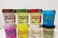 Mini Eco hair styling gel olive oil Various colors 236g x 1 gel styling wax oil bottles
