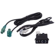 1 Set AUX USB Socket Switch Cable AUX&USB Car Audio Line For BMW E60 E61 E63 E64 E87 E90 E70 F25