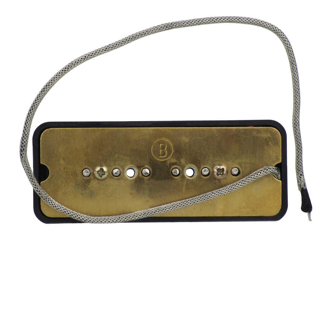 YENI Set Boyun ve Köprü kalıp sabun Vintage Alnico 5 P90 P 90 Gitar Manyetikler Siyah LP Tarzı Elektro gitar