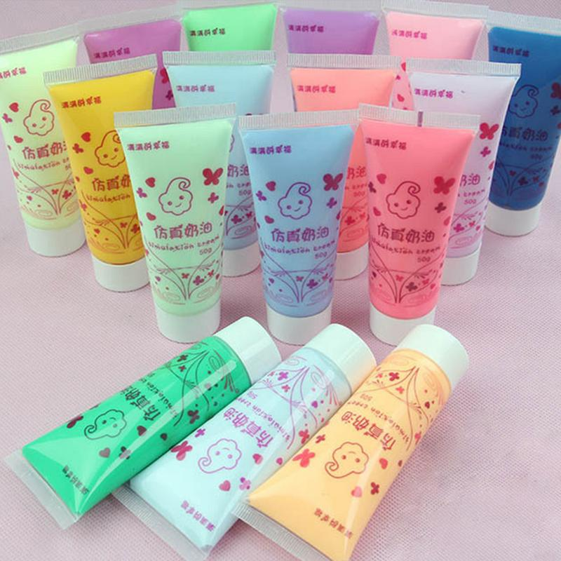 16 Colorful 50ml Simulation Ice Cream Gel Phone Case DIY Cakes Cake Cream Chocolate Glue Nail Soft Clay Decoration Materials #