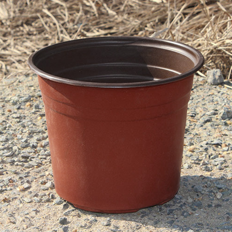 100pcs Small Plastic Round Flower Pot Terracotta Nursery Planter Home Decor DIY