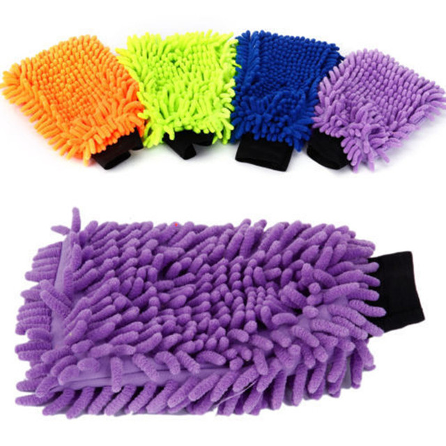 Microfiber Gloves Kitchen Clean Gloves Multifunction Cleaning Cloth Household Cleaning Soft Cloth Car Washing Cloth