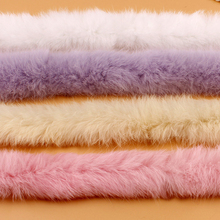 Лента из искусственного кроличьего меха, пушистая отделка, сделай сам, домашний декор, швейный костюм, 6 цветов, 46
