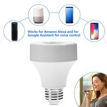 Delicate Wifi Control Light Bulb Base Switch Lamp Holder Wireless Smart Lamps Bulbs Socket 2019(China)