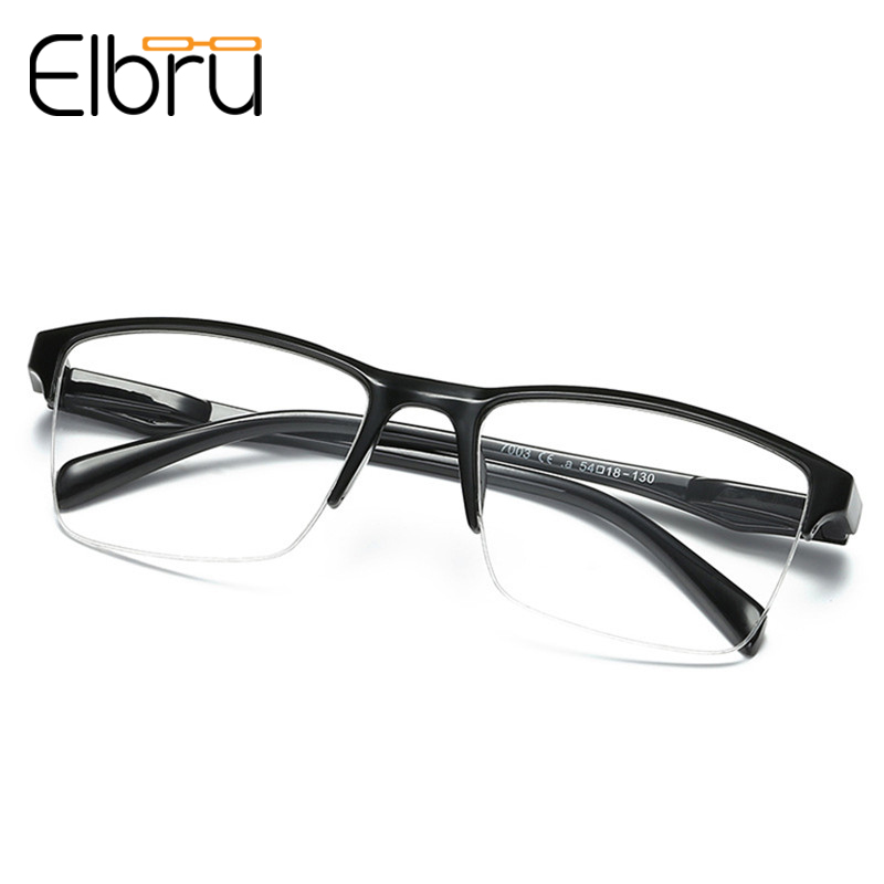 Elbru Half Frame Reading Glasses Ultralight Reader Magnifier 0.25 0.5 0.75 1.0 1.25 1.5 1.75 2.0 2.25 2.75 3 3.25 3.5 3.75 4.0
