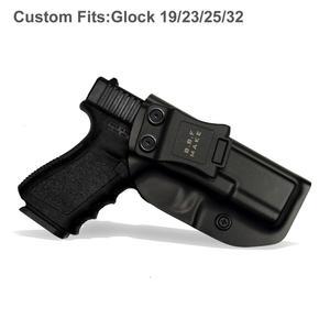 Image 2 - IWB/OWB ยุทธวิธี KYDEX ปืน HOLSTER Glock 19 Glock 17 25 26 27 28 31 32 33 43 ภายในปกปิดพกพาปืนพกอุปกรณ์เสริมกระเป๋า