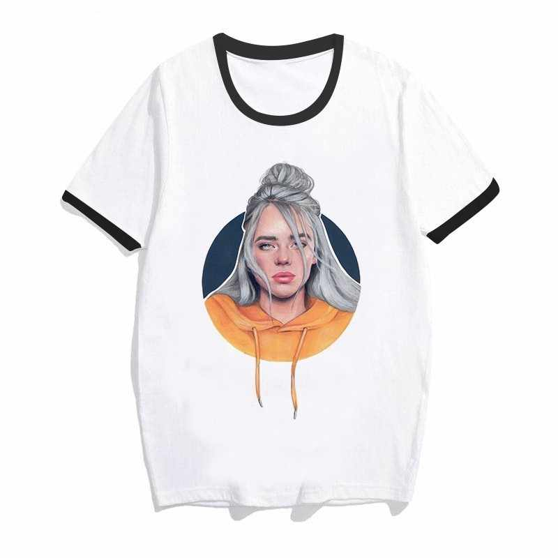 Eilish Camiseta De Alta Verano Calidad Hip Casual Hombres Top Redondo Hop Billie Corta Mujeres Manga 2019 Cuello QrCxBtshd
