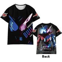 Hot Anime  Masked Rider Kamen Rider Build zi-o ex-aid cosplay T-shirt Men Women Short Sleeve dress Costumes Tops Unisex  t shirt недорого