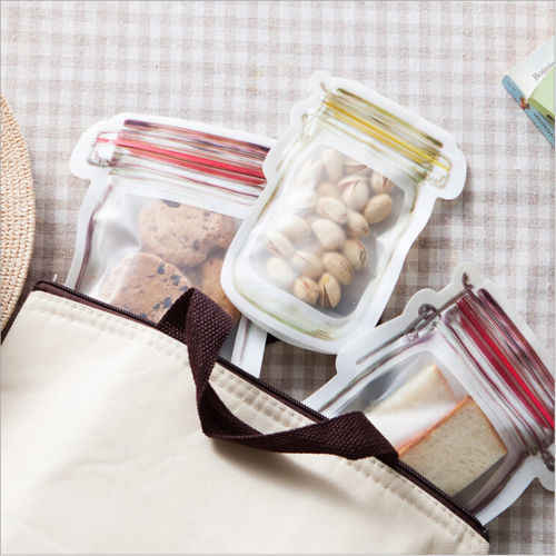 Reusable Fresh Seal Silicone Food Bag Vacuum Sealer Fruit Meat Milk Storage Bags