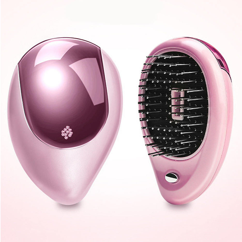 Combs Details about Portable Electric Ionic Hairbrush Takeout Mini Ion Hair Brush Comb Massage Hair Care Tools in Combs from Beauty Health