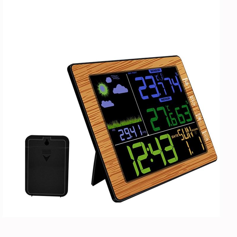 Multifonctionnel TS-8210 numérique LCD sans fil professionnel Station météo testeur de température thermomètre humidité moniteur horloge