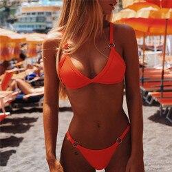 Micro Bikini 2019 Swimwear Women Bikini colaless Swimsuit Sexy Thong Bikinis Set Bathing Suit Beachwear mini bikini femme 1