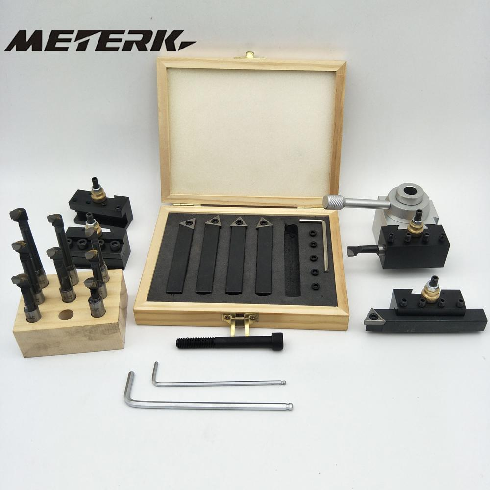 Post-Holder-Kit Turning-Tool-Set Mini Lathe Boring-Bar Quick-Change 19pcs For CNC