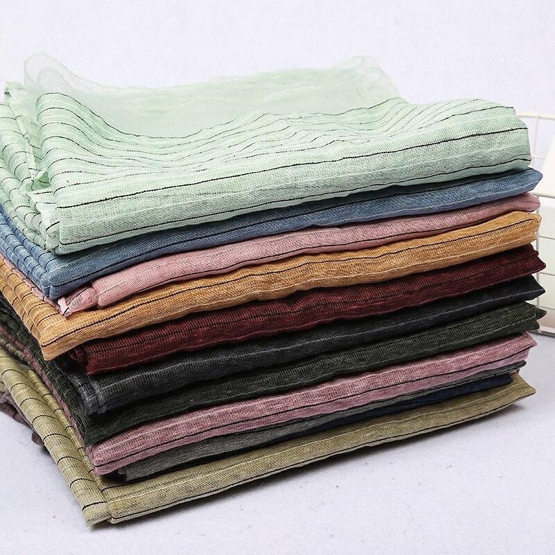 c0cfdac288f9 2019 New Style Spring Summer Silk like Striped Dirty Dye Scarf Yarn Dyed  Sun Beach Scarf Air Conditioning Shawl collar-in Women s Scarves from  Apparel ...