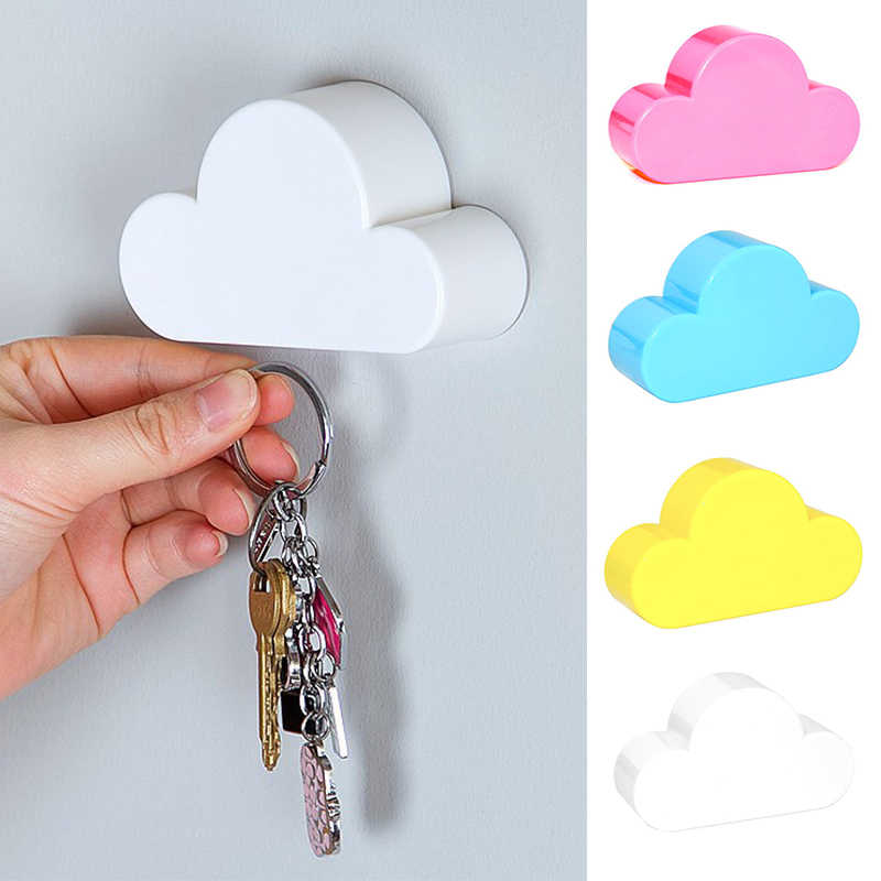 Key Holder Cloud Shape Keychains Wall Hanger Lovely Home Decoration Magnetic