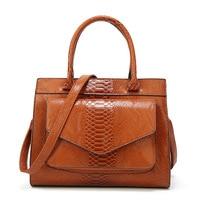 Serpentine Pattern Handbag Big Bag Luxury Women Fashion Shoulder Bags Large Leather Tote Bag For Office Lady Simple Handbags